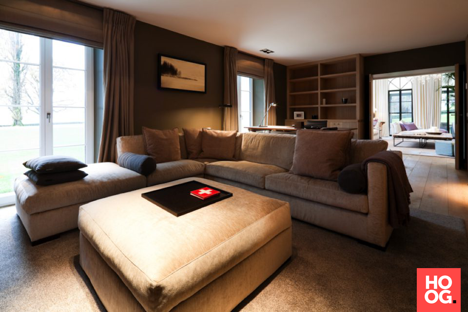 werkkamer inrichting in landelijke stijl interieur ideen woonkamer living room hoog