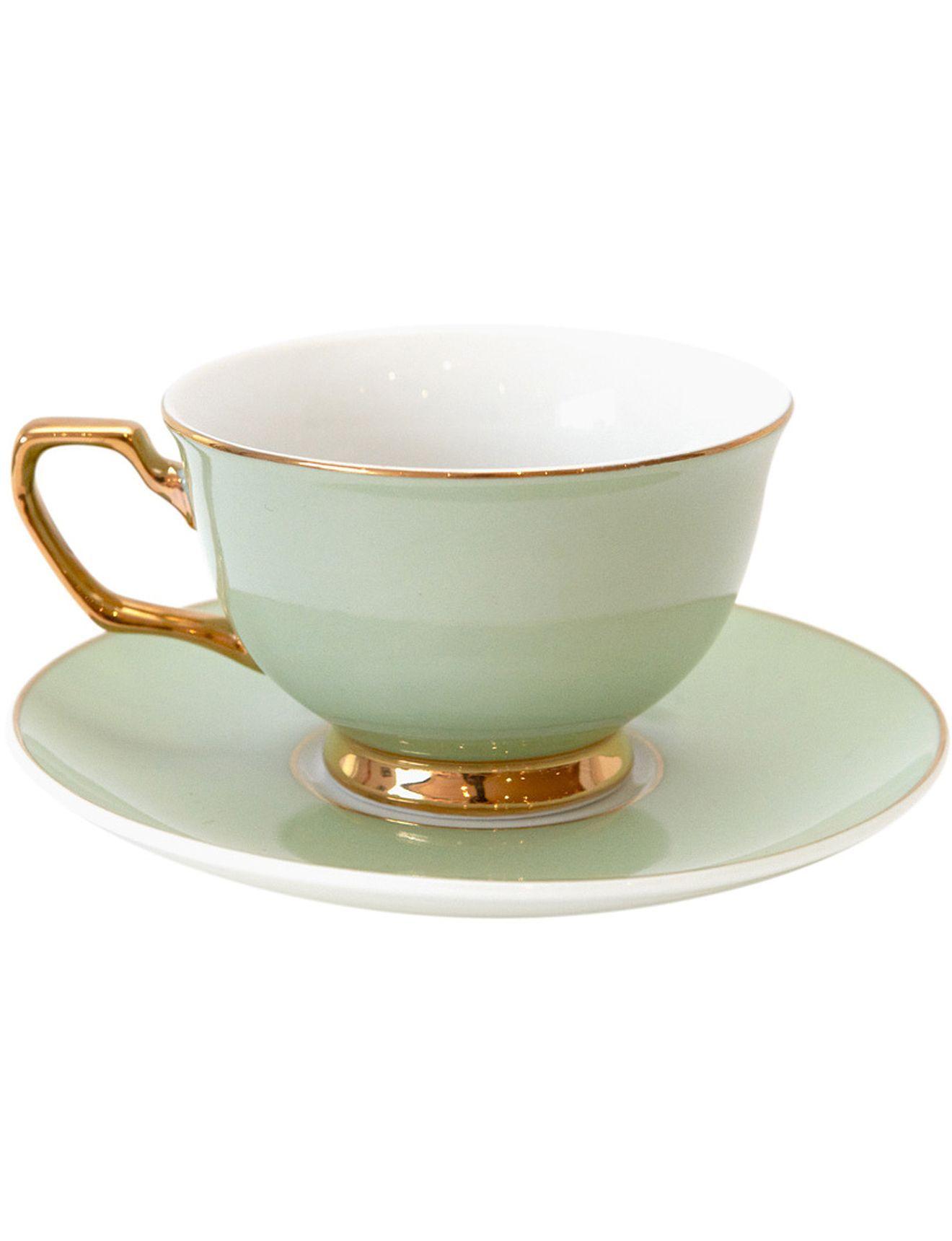 Signature Teacup \u0026 Saucer   David Jones  sc 1 st  Pinterest & Signature Teacup \u0026 Saucer   David Jones   Green china and glass ...