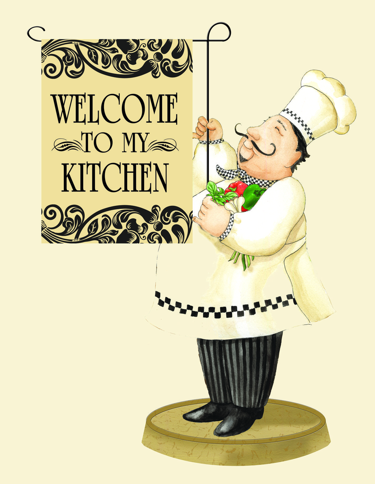 Retro Schilder Küche Chef Mini Flag By Vicky Howard Clip Art Küche Kochbuch