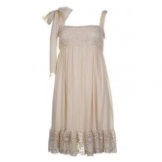 $146 - Valentino Red Women's Cream Dress