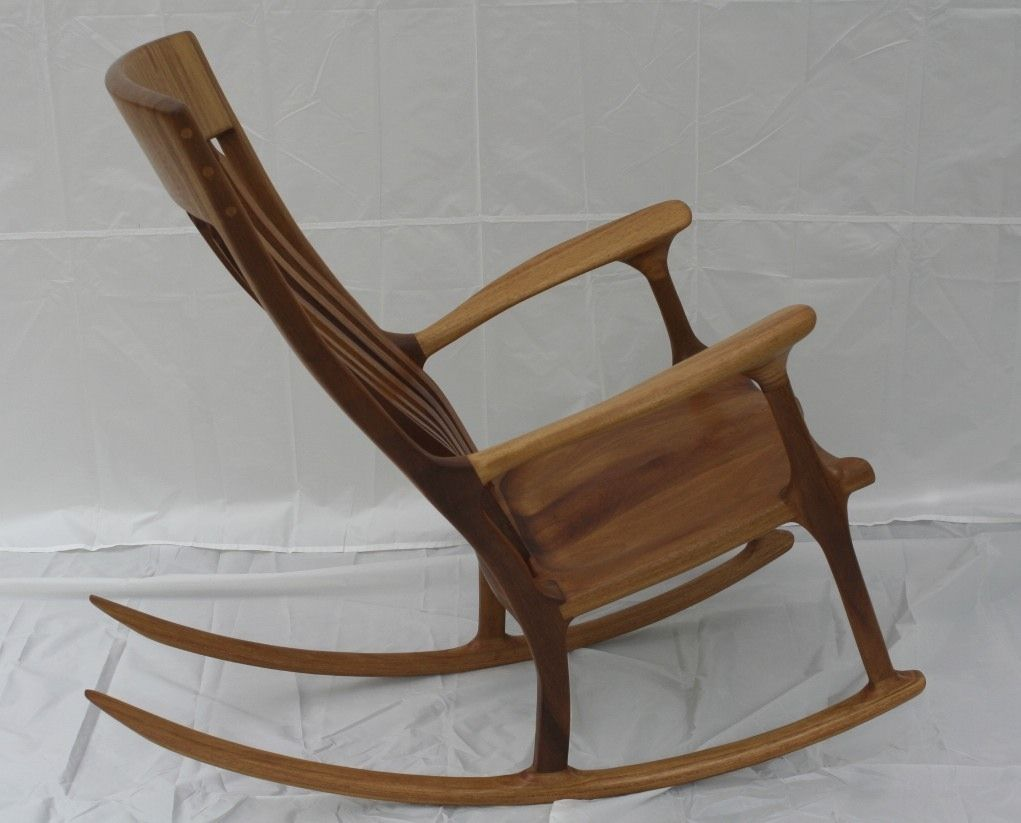 Handmade Iroko African Teak Rocking Chair By Wood In Motion Custommade Com Teak Rocking Chair Wood Rocking Chair Rocking Chair