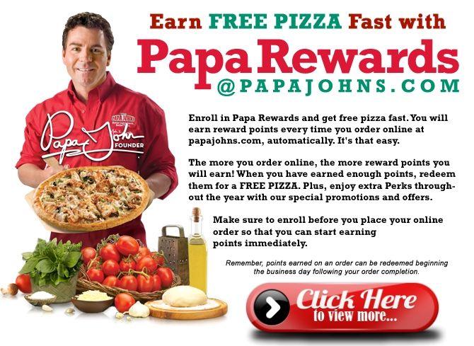 Papa John's - FREE Pizza with Papa Rewards