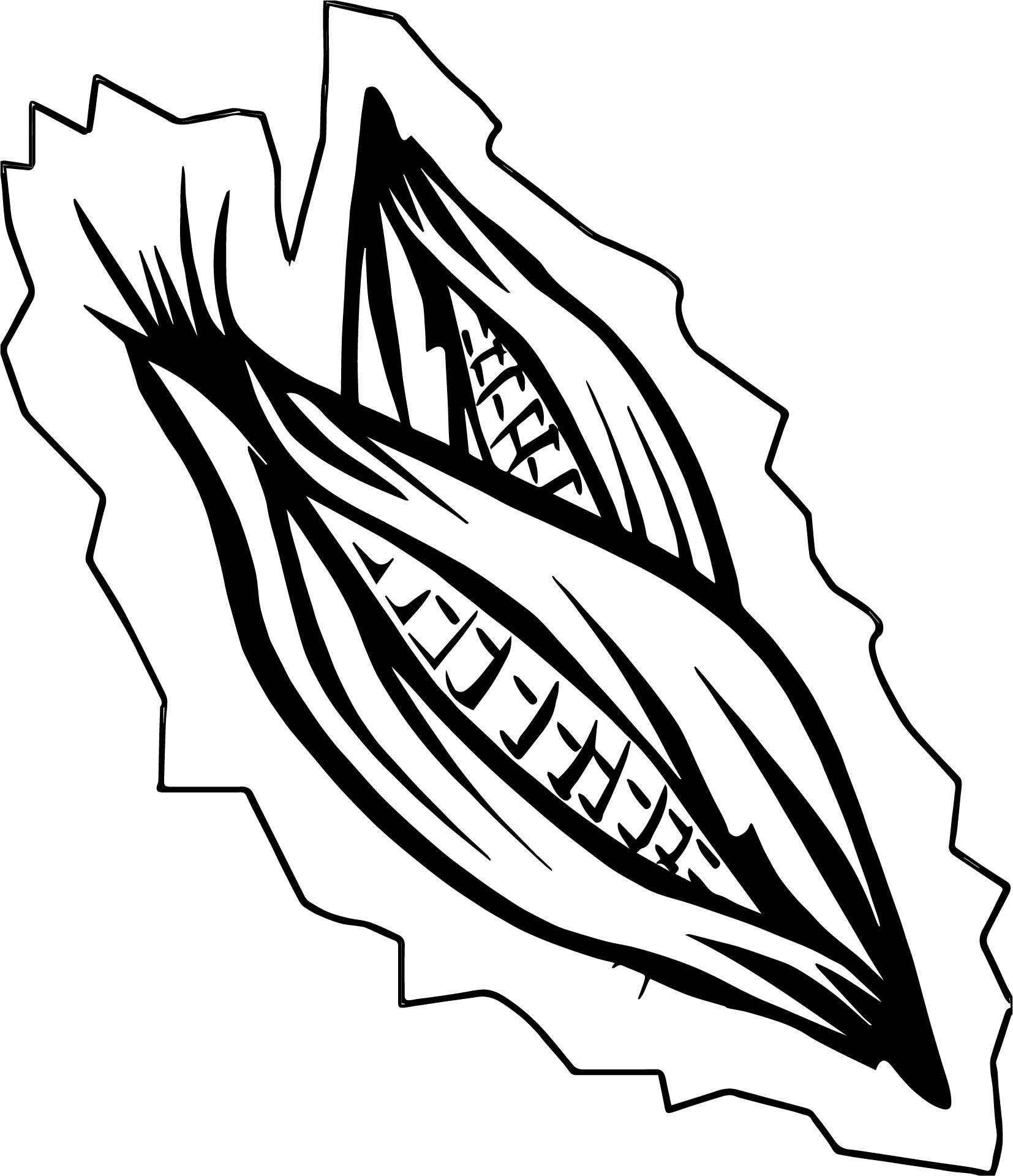 Cool Basket Of Vegetables Corn Coloring Page