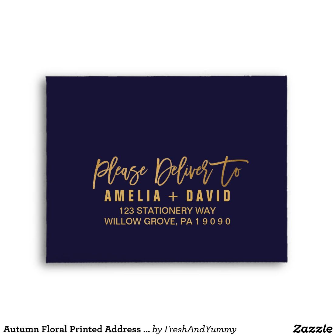 autumn floral printed address rsvp envelope these autumn floral