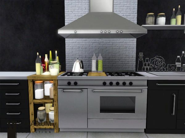 The sims resource tsr vanadium kitchen by wondymoon for Cc kitchen cabinets