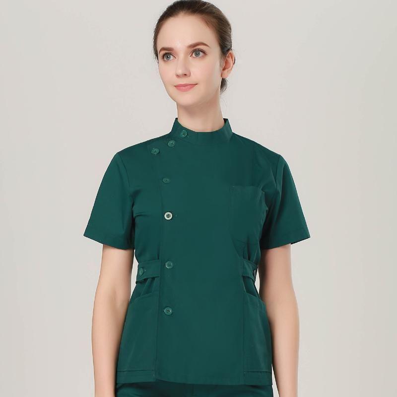 920f7d96299 Work Wear   Uniforms Cheap Summer Women Hospital Medical Scrub Clothes Set  Sale Design Slim Fit
