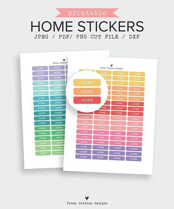 home printable header stickers printable planner divider tab