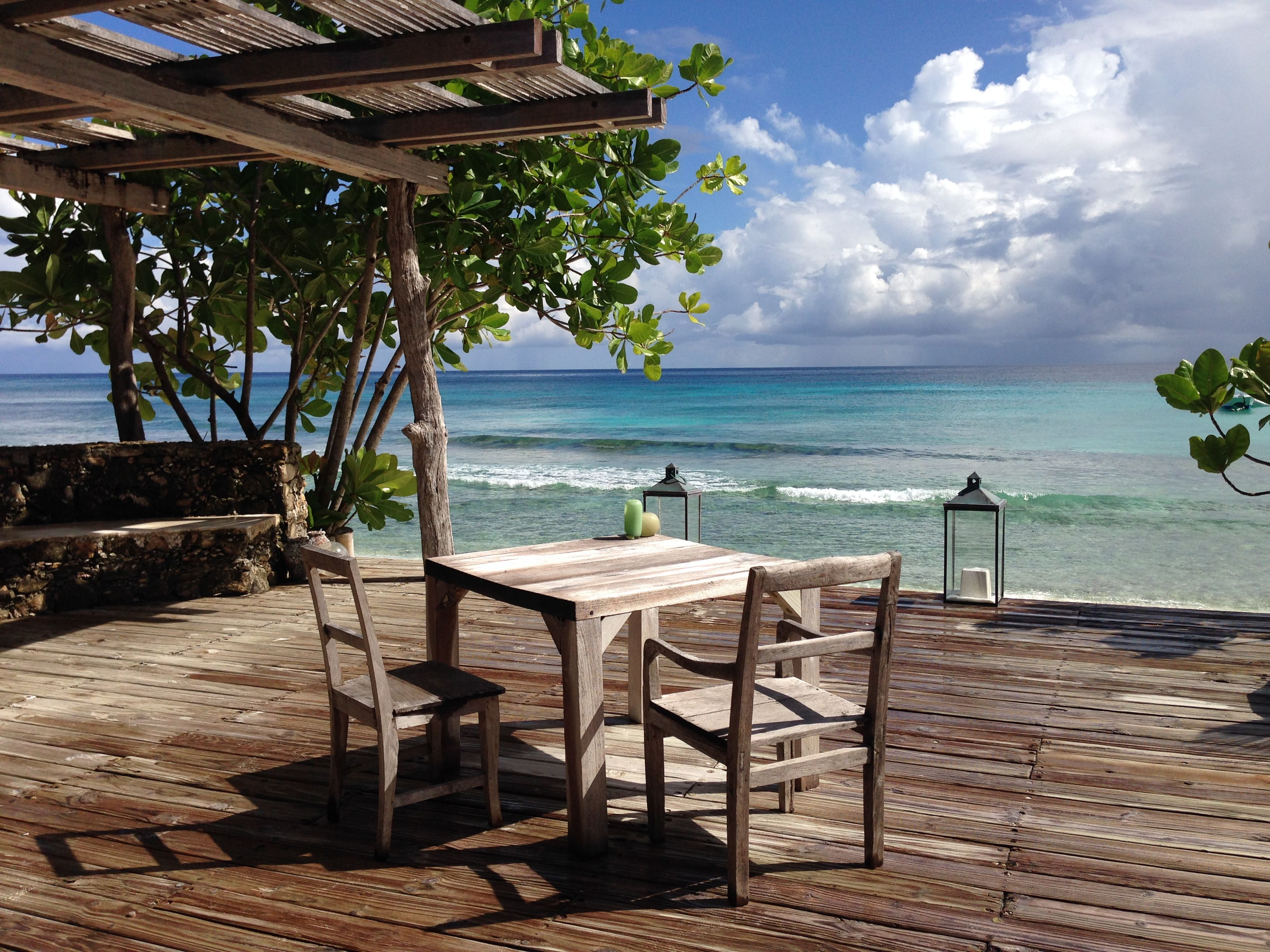 Table for two on the beach at private island northisland head to north island a private island resort in the seychelles the north island resort combines natural beauty with sheer luxury sisterspd