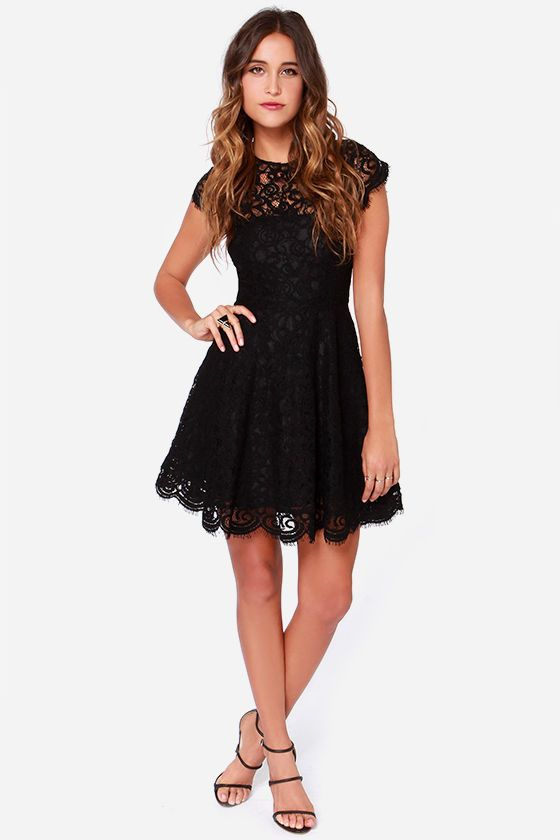 Bb Dakota Rylin Black Lace Dress Clothes Shoes Dresses