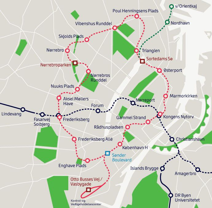 How To Use Public Transport in Copenhagen Copenhagen, Public - new world map denmark copenhagen