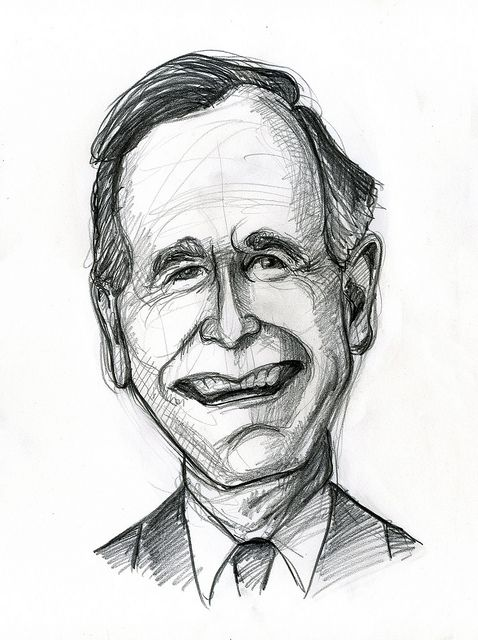 george h w bush caricutures caricature presidents celebrity
