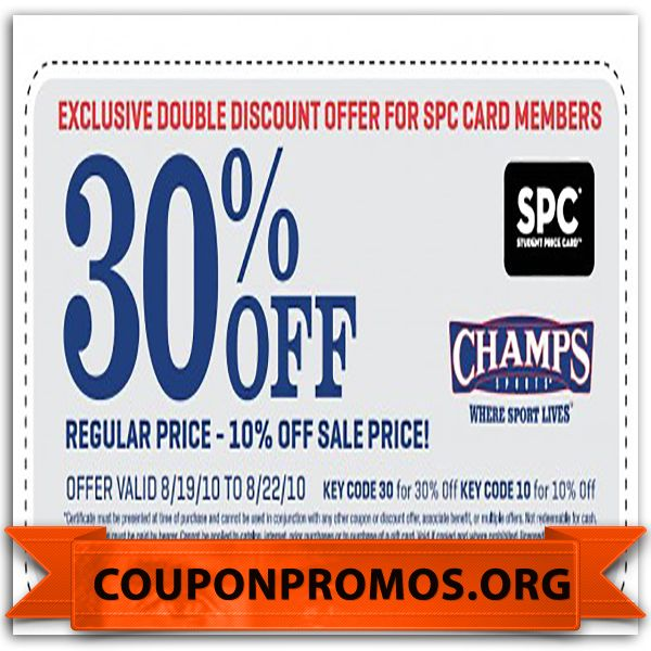 graphic relating to Champs Printable Coupons called cost-free printable champs discount coupons for March Discount codes 2015