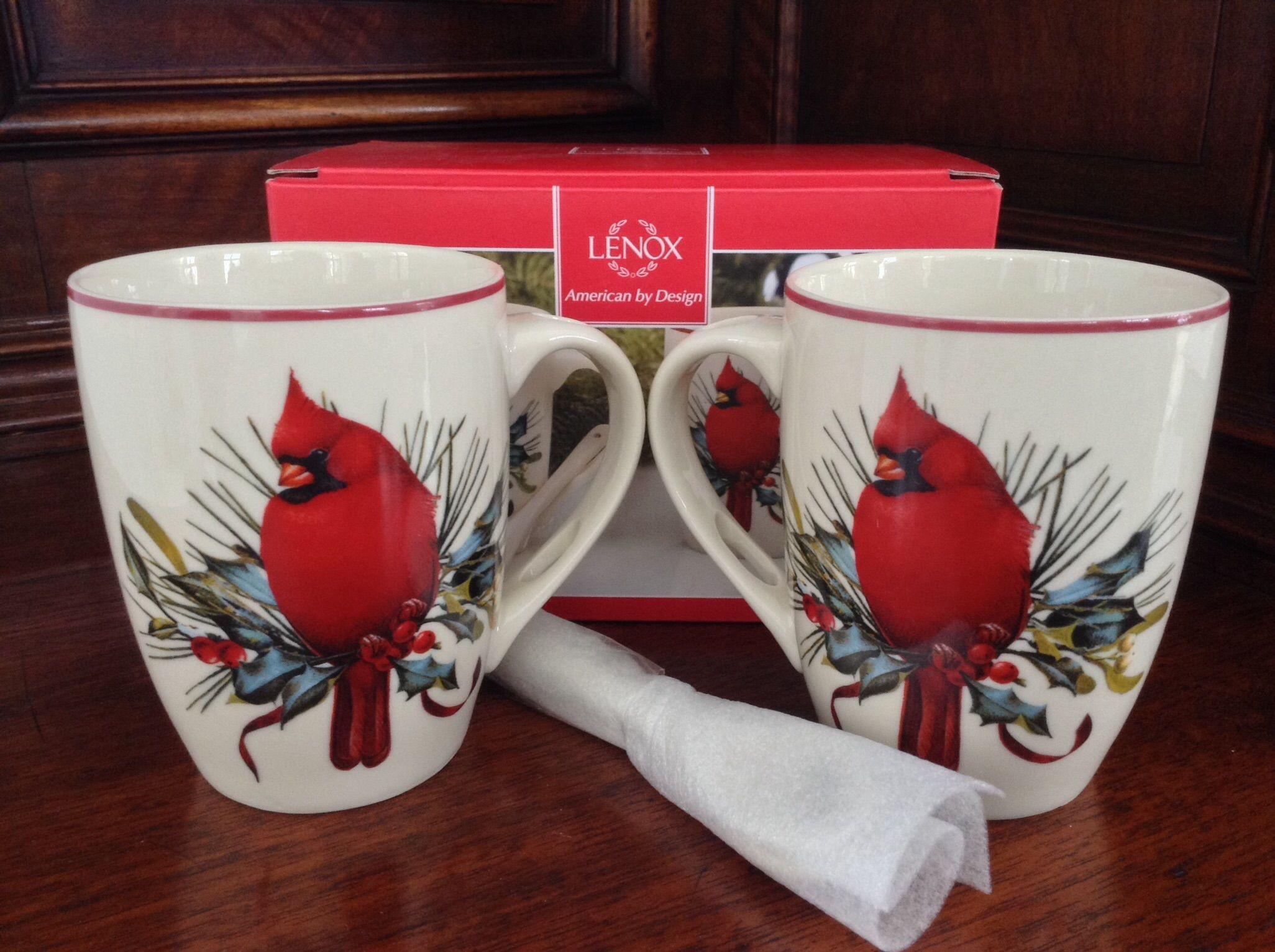 Lenox winter greetings mugs set of 2 home decor pinterest lenox winter greetings mugs set of 2 m4hsunfo
