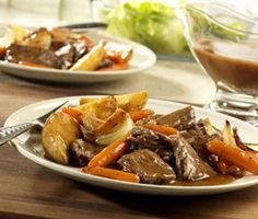 Slow cooker pot roast with vegetables.If you've forgotten how good a succulent,slow cooking pot roast can be,remind yourself with this excellent version of slow cooker pot roast.