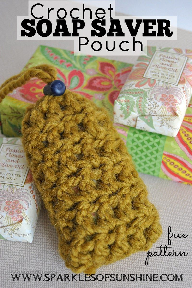 Crochet Soap Saver Pouch Pattern   Free crochet, Sunshine and Pouches