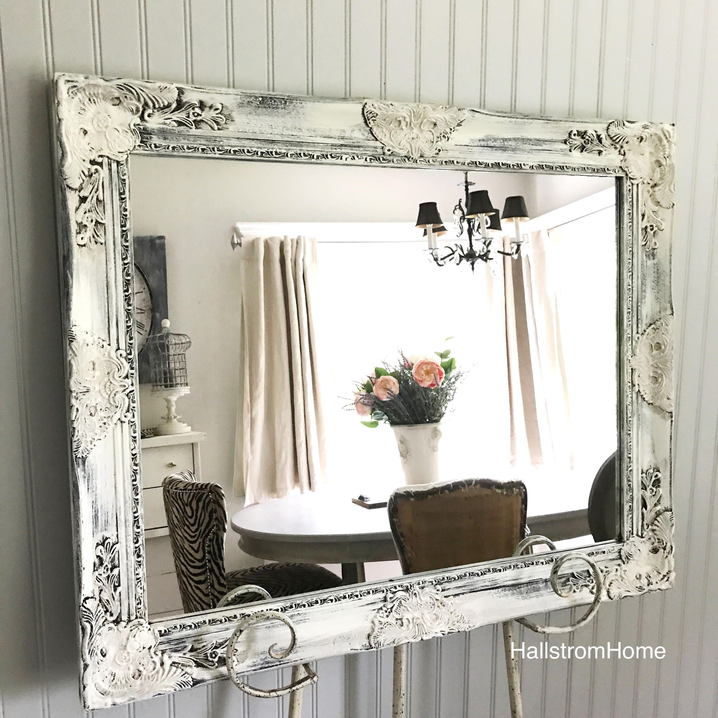Wedding Seating Chart/ French Rustic Mirror/ Shabby Chic