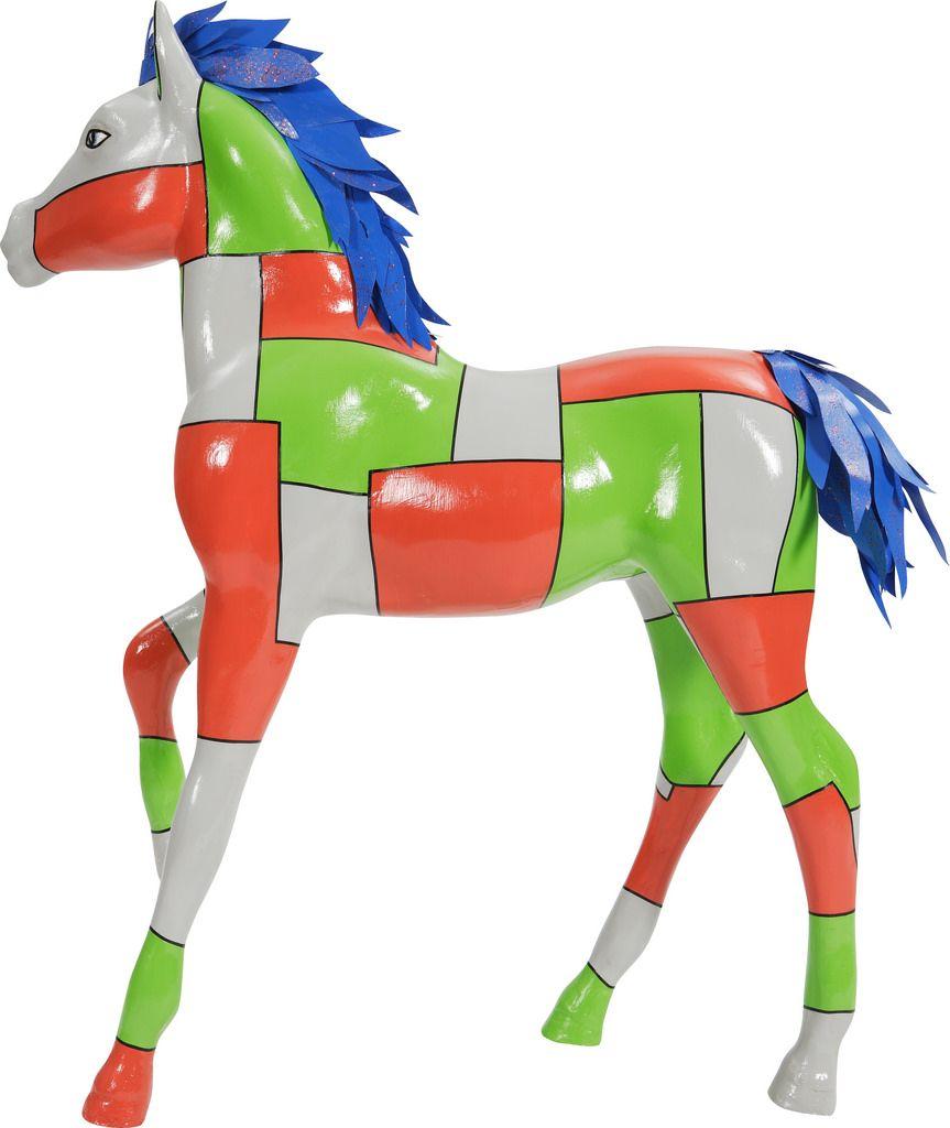 Little miss mellwood oversized art little miss horse