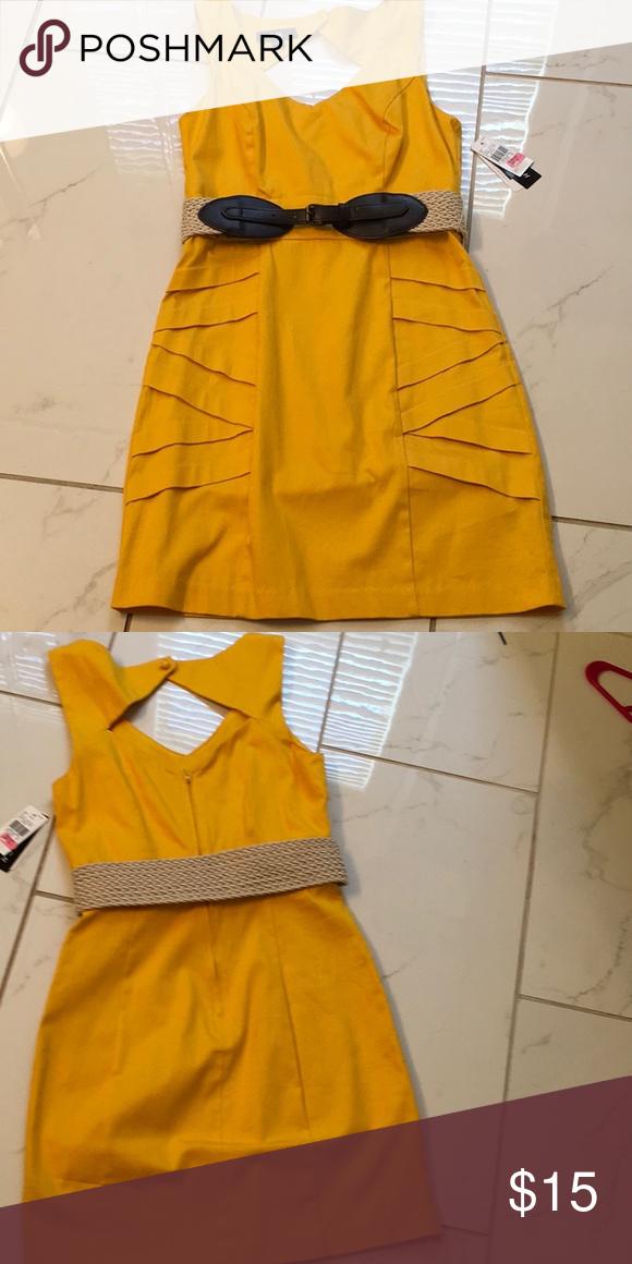 7e92c4a58e5 NWT yellow sleeveless dress w belt NWT Dillard s dress. Size 3. Color   Mustard yellow. Smoke free home. brand I.N. San Francisco dillards Dresses