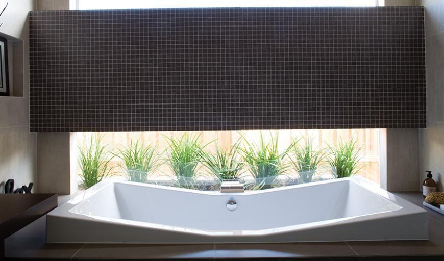 hoesch foster bath looking into garden