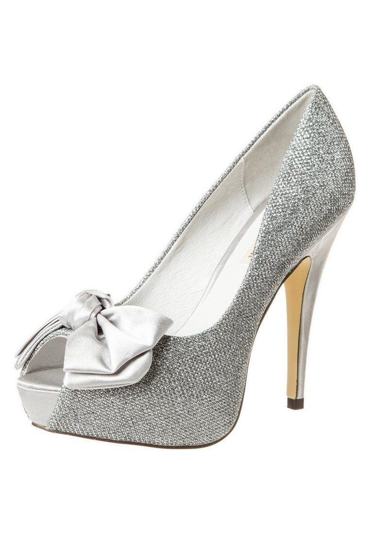 Menbur HERMON High Heel Peeptoe silber | Silber, Mode