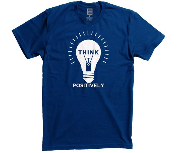 04bc290c447e Think Positively T-Shirt | {Wearable T-Shirts~} | Shirts, T shirt, Men