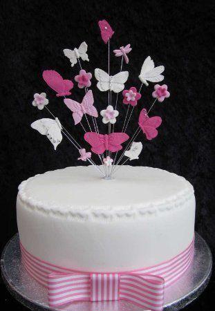 karen 39 s cake toppers tortenaufsatz wei rosa. Black Bedroom Furniture Sets. Home Design Ideas