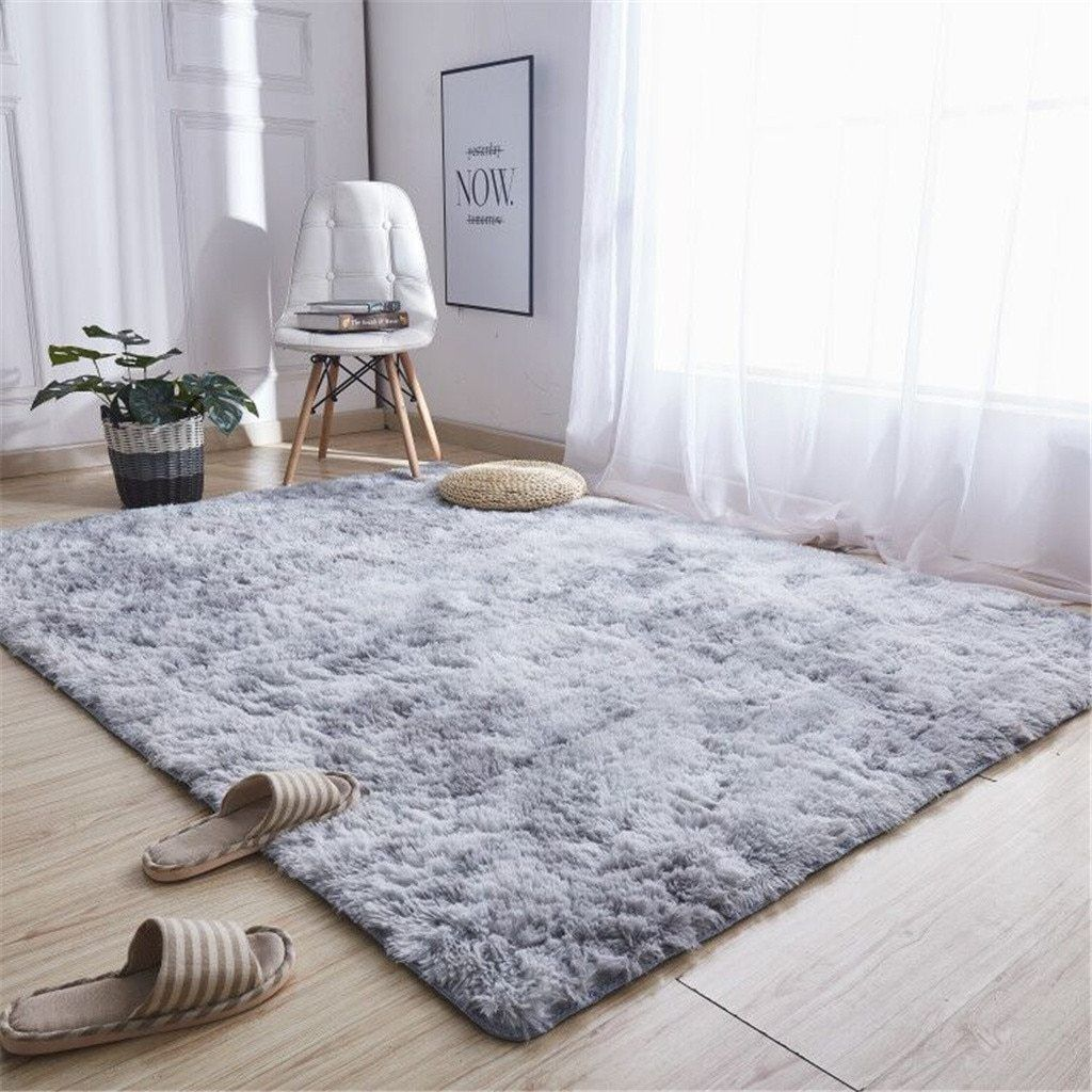 Living Room Bedroom Cotton Area Rug 40x60cm Ultra Soft Modern