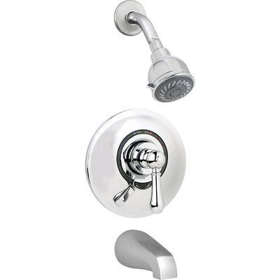 Symmons Allura Pressure Balance Tub and Shower System with Lever Handle Finish: Chrome