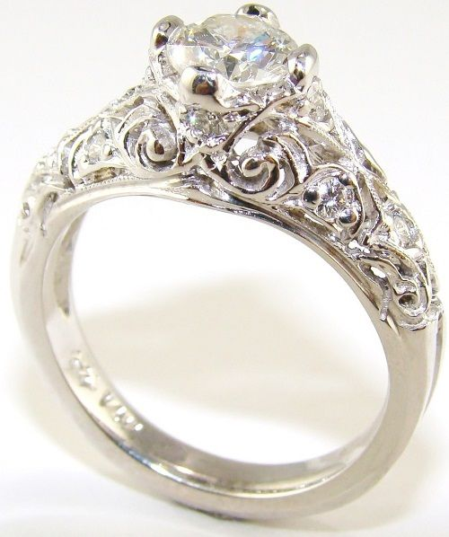 vintage engagement ring i looooooove it yeayyyyyyy vintage - Victorian Wedding Rings