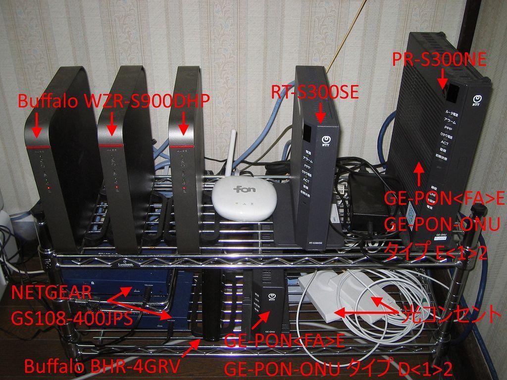 自宅内ネットワークの機器構成とケーブル配線図メモ 電話回線