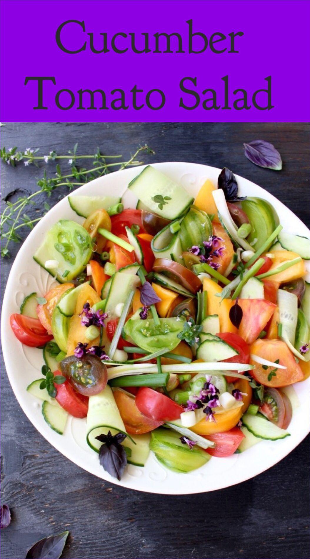 Cucumber Tomato Salad Recipe | CiaoFlorentina.com @CiaoFlorentina