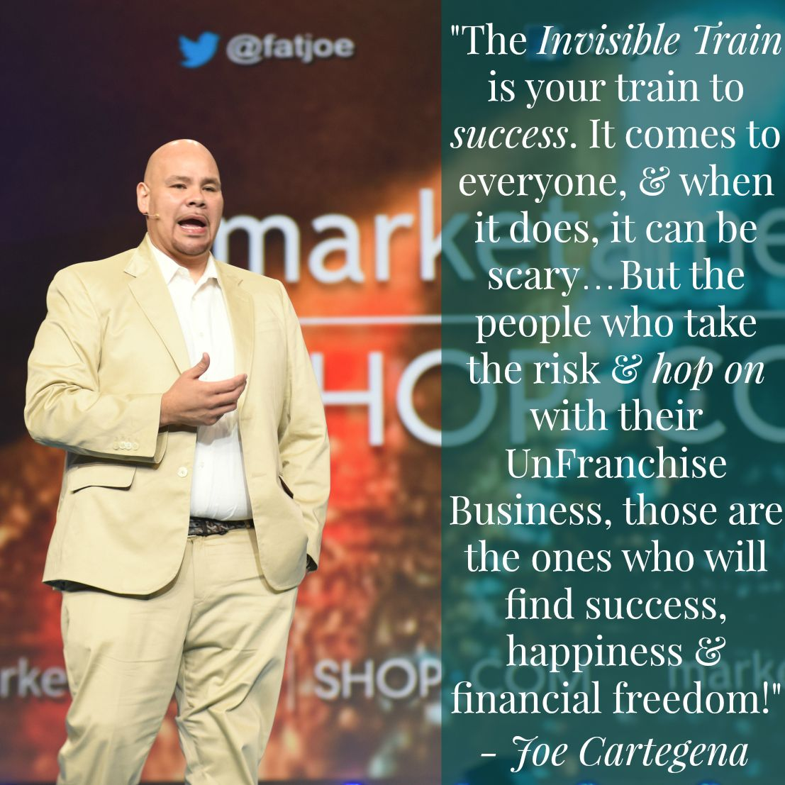 Recent Inspirational Quotes Great Quote From Fatjoe From A Recent Market America Event