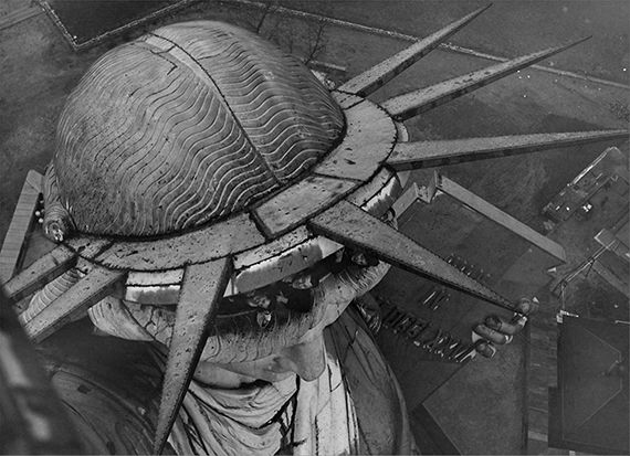 Amazing - Statue of Liberty from above, New York City, United States, 1925
