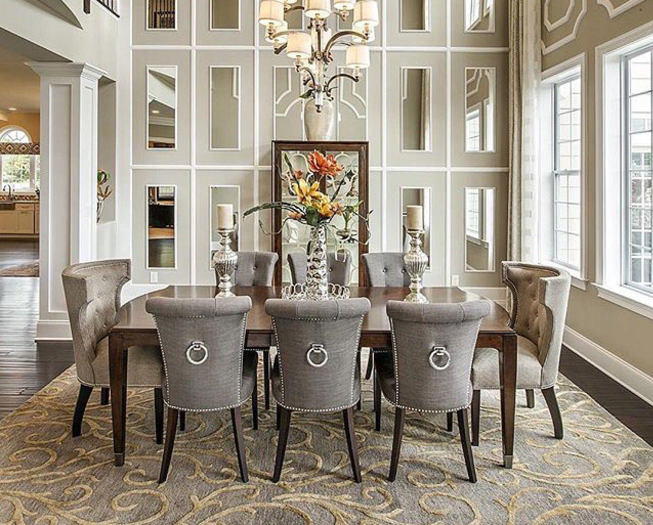 Love The Mirrors Luxury Dining Dining Room Design Luxury