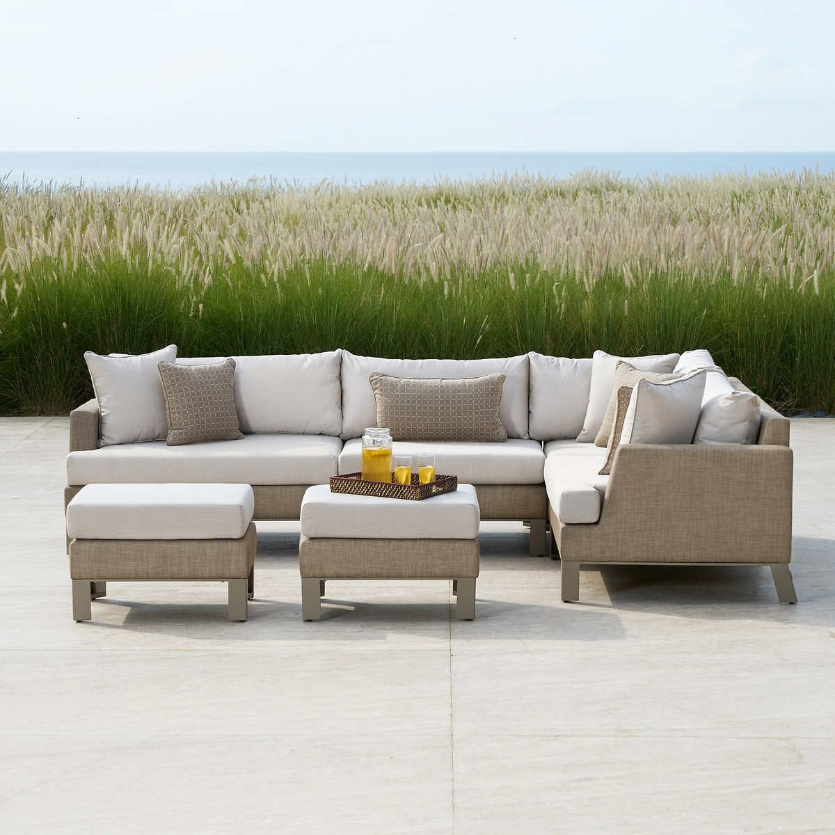 Astounding Portofino Modern Sling 6 Piece Sectional Alphanode Cool Chair Designs And Ideas Alphanodeonline