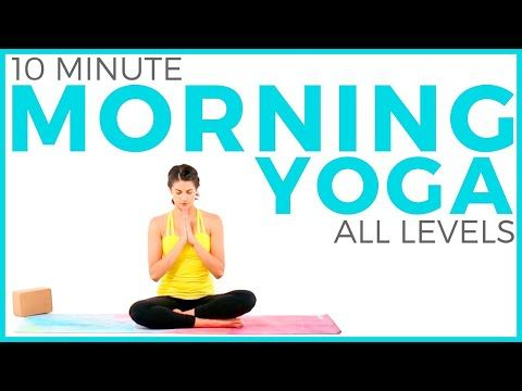 10 minute morning yoga for beginners 🙏🏽 peace flow  sarah