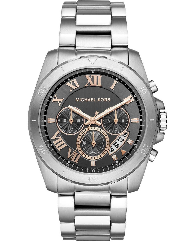 Michael Kors Brecken Chronograph Silver Stainless Steel Bracelet Mk8609 Uhren Herren Uhren Herren Chronograph Michael Kors Chronograph