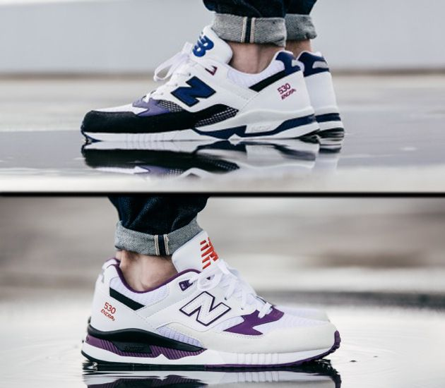 new balance 530 white purple green