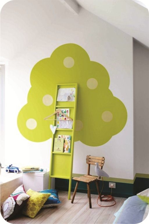 Diy Kids Bookshelf Diy ladder shelf kids room | children | Pinterest ...