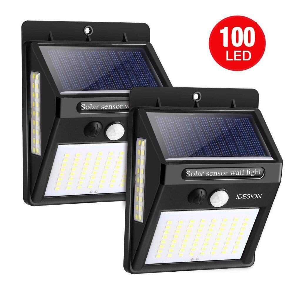 110 Led Solar Powered Pir Motion Sensor Wall Light Solar Power