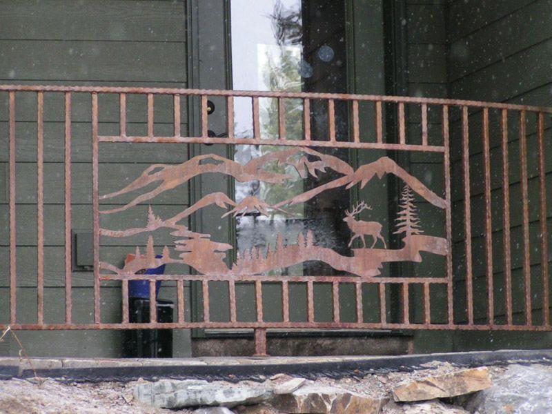 Patio Railing Design   Metal gates design, Railing design ...