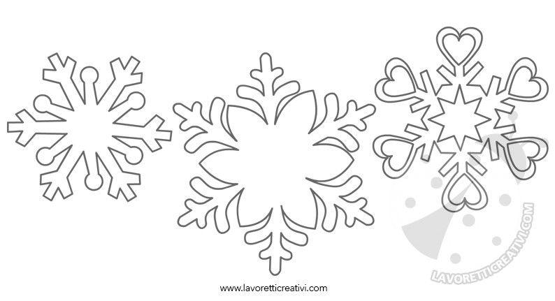 Fiocchi Di Neve Disegni Da Stampare E Ritagliare Progetti