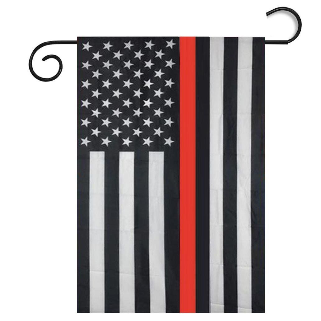 Iusun Popular American Flag Garden Flags Black White And Blue