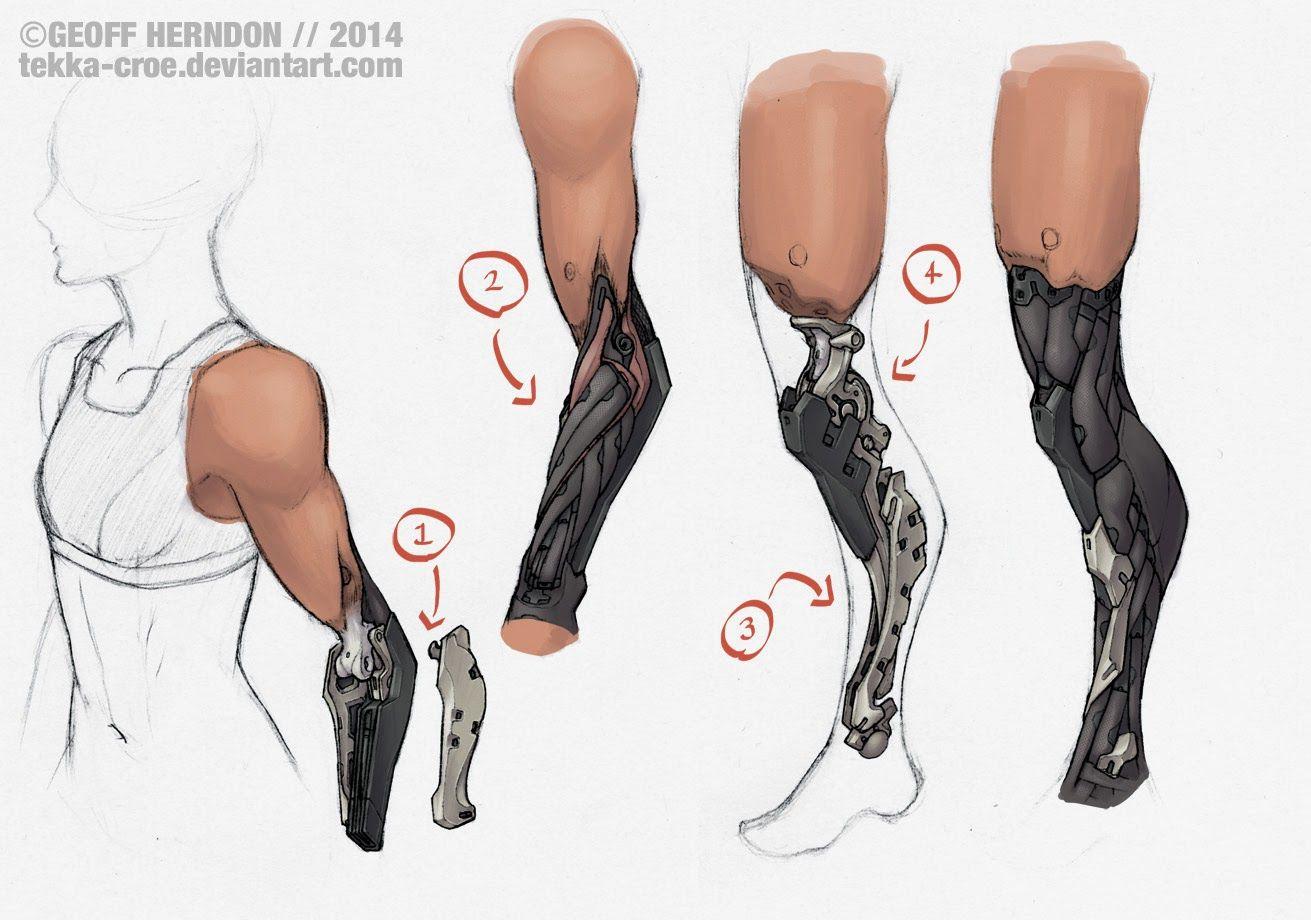 Prosthetic Concepts - Geoff Herndon arm robot machinery sci-fi mechanical leg
