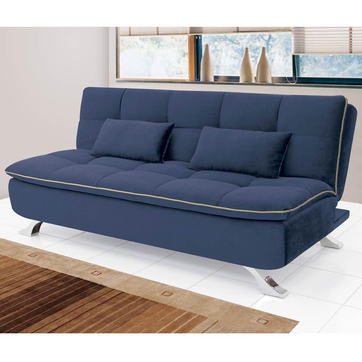 sof cama mayara 3 lugares 1 90 m suede azul linoforte loft ideas and lofts. Black Bedroom Furniture Sets. Home Design Ideas