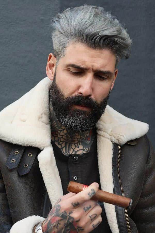 The Full Guide For Silver Hair Men How To Get Keep Style Gray Hair In 2020 Silver Hair Men Colored Hair Tips White Hair Men