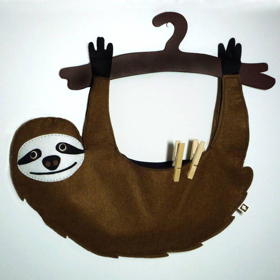 Sloth Peg Bag … | Crafts |…