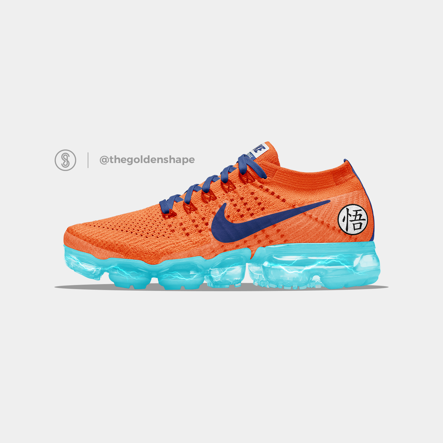 Ball Son Goku Dragon Saiyan X Super Vapormax Nike BlueThe Nn0wvm8O
