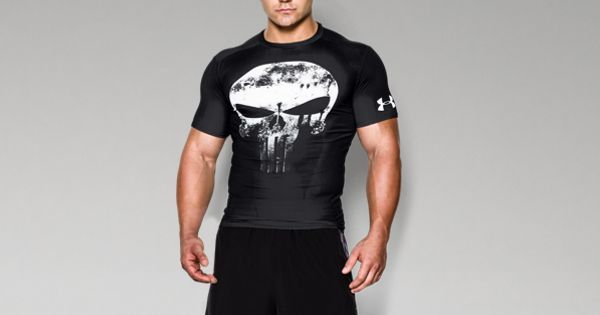 2fefa5c89598 Shop Under Armour for Men s Under Armour® Alter Ego Punisher Compression  Shirt in our Men s Short Sleeve Shirt department. Free shipping is  available in US.