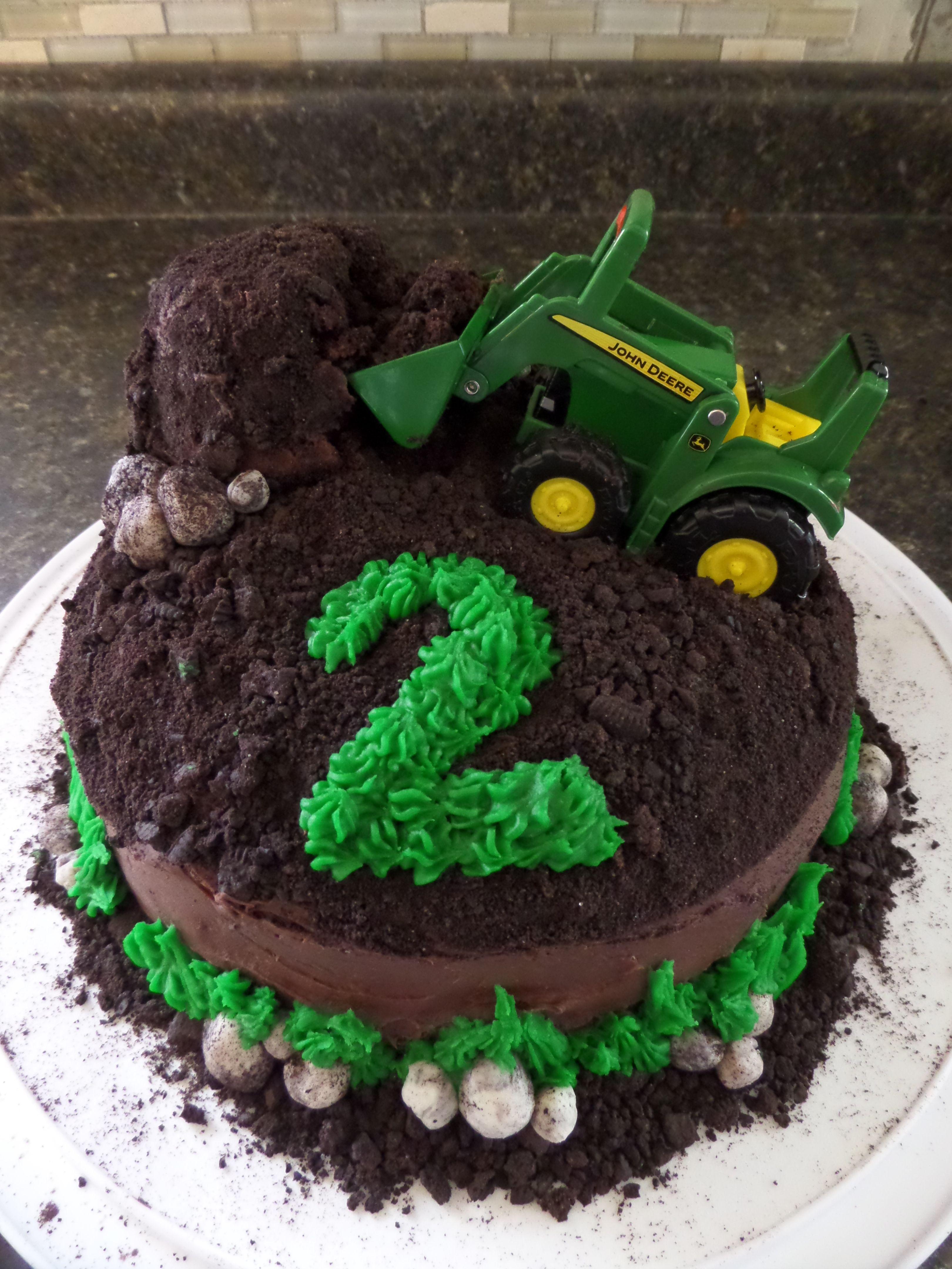 John Deere Tractor Cakechocolate chocolate cake crushed up oreos